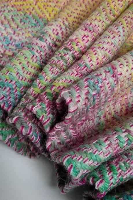 Handwoven hand-dyed scarf, baby scarf, girly scarf